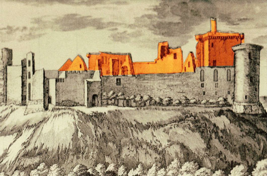 Bothwell Castle Old Sketch