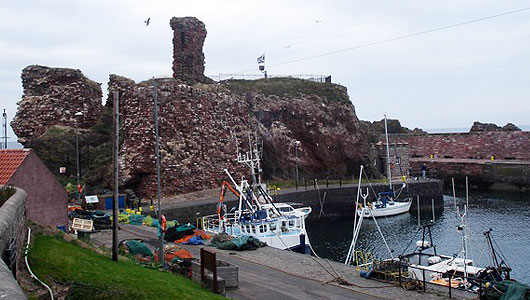 Dunbar Castle as it is today