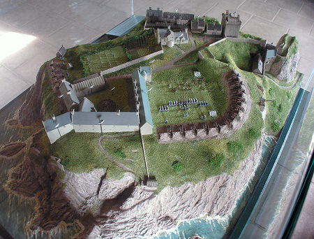 Dunnottar Castle model