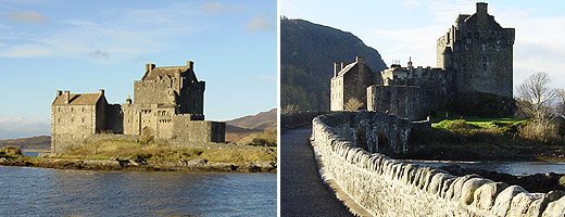 Eilean Donan Castle - rebuilt in the 20th century