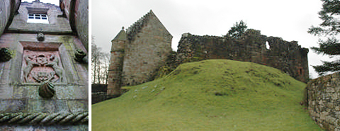 Rowallan Castle with Coat of Arms