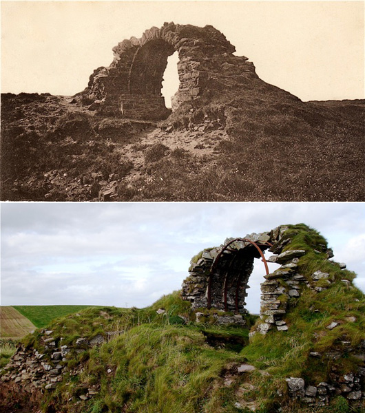 Cruggleton Castle (past & present)