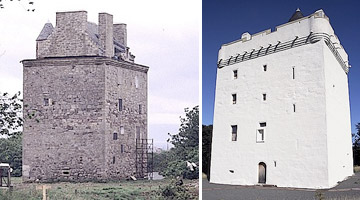 Law Castle - before & after restoration