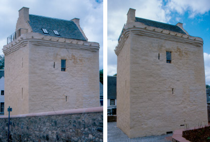 Newmilns Tower north and east elevations