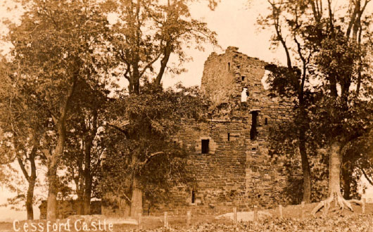 Cessford Castle in 1904