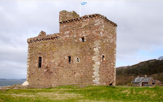 Portencross Castle in 2012