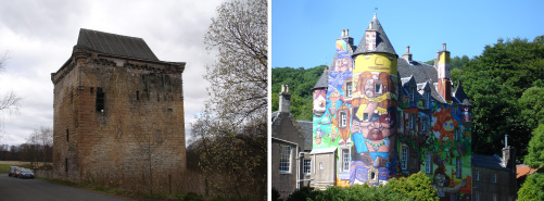 Sauchie Tower and Kelburn Castle