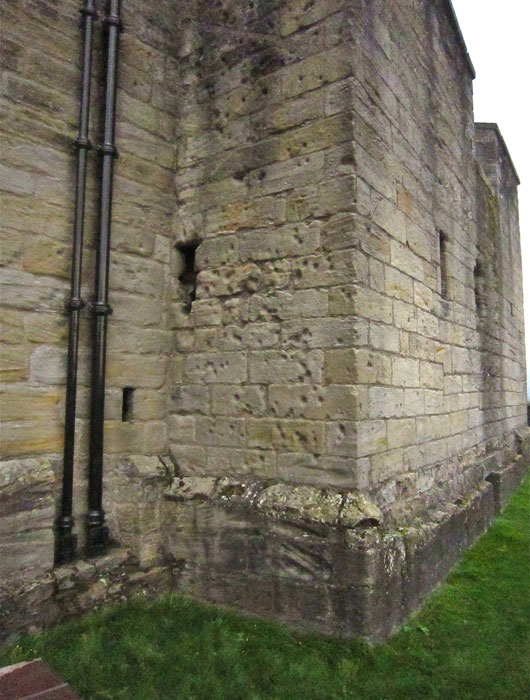 Stirling Castle bullet marked Elphinstone Tower