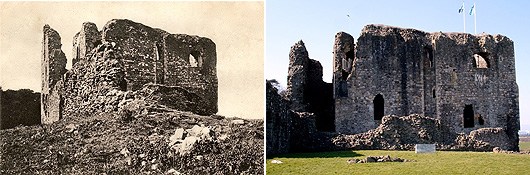 Then and now - Dundonald Castle
