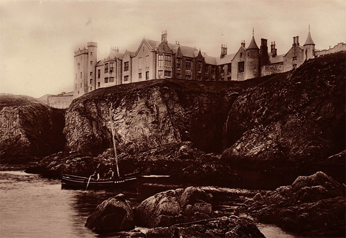 Slains Castle circa 1900