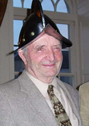 Tom Clarke sporting his Morion helmet