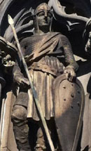 scottish norman warrior statue